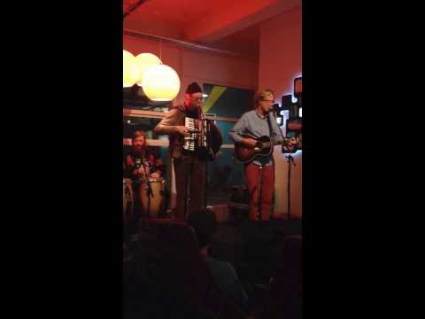 Erlend Oye with Siggi at the Marina Hotel, Reykjavik 101, Iceland on Nov. 6th, 2013.