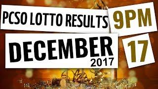 Lotto Results Dec 17, 2017, 9PM ft. 6-58, 6-49, Swertres & Ez2