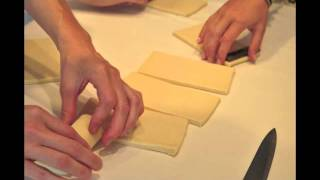 How to roll pain au chocolat