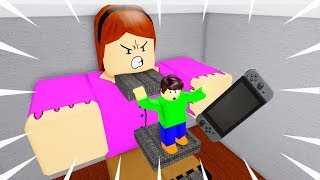 KID BALDI ESCAPES THE GIANT ANGRY MOM OBBY!!   Roblox: Angry Mom Obby