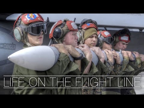 LIFE ON THE FLIGHT LINE: F/A-18 Hornet Squadron In Action