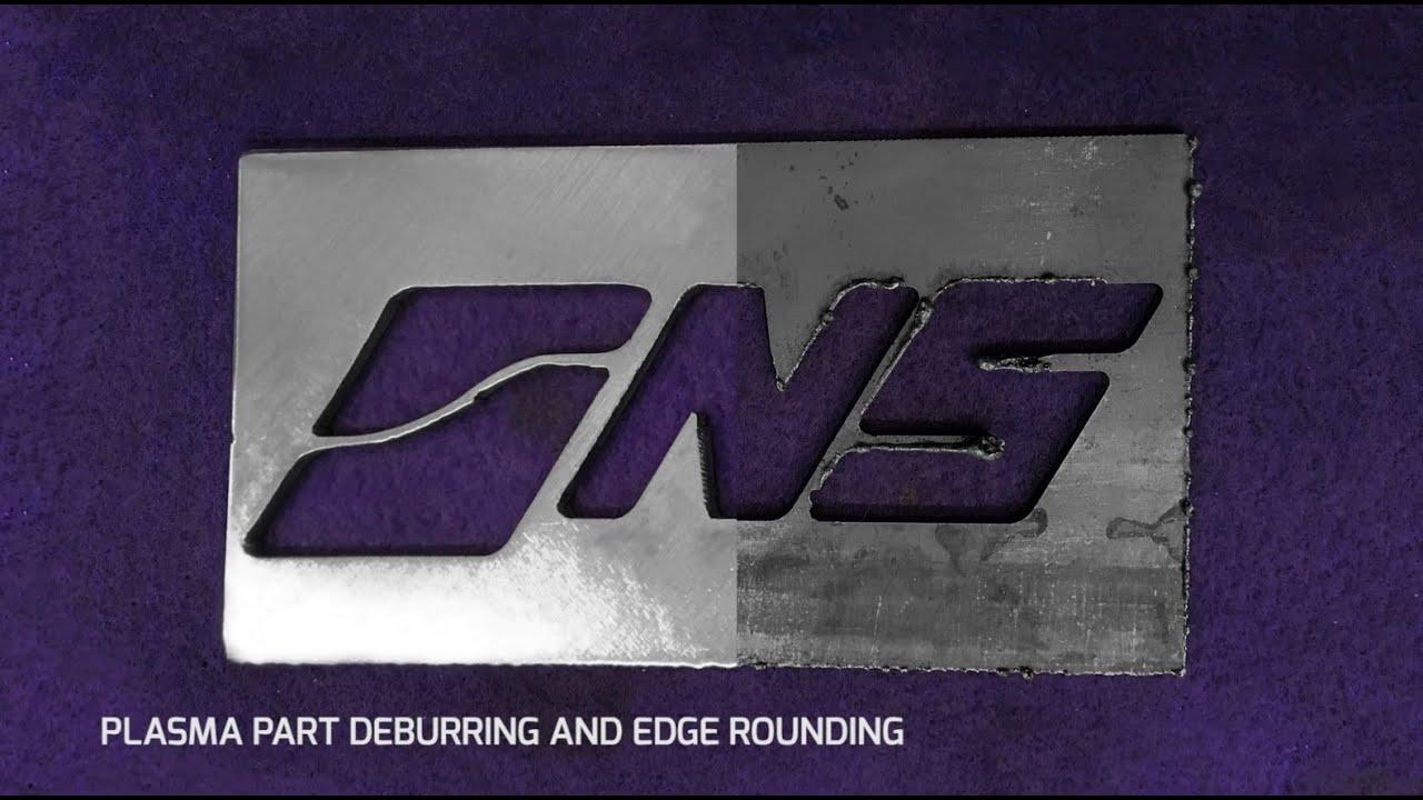 Metal Deburring Machine Edge Rounding Process Dm1100
