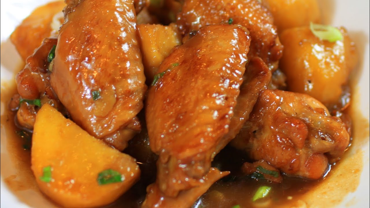 Image result for potato steamed chicken wings