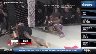 When the ref says enough, you listen. Referee Leon Roberts was forc...