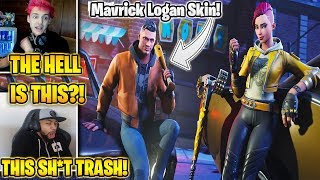 "Streamers *HATE* NEW ""Logan Paul Maverick Skin"" & Shade Skin! (Fortnite Battle Royale)"