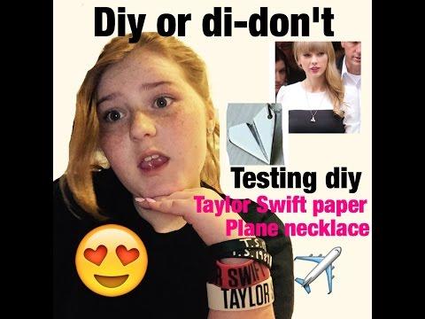 Diy Taylor Swift paper plane neckless (Testing)