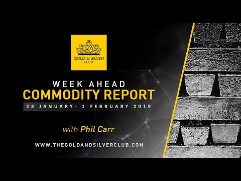 WEEKLY COMMODITY REPORT: Silver, Oil & Gold Forecast: 28 January - 1 February 2019