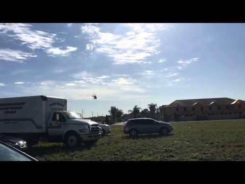 Helicopter leaves the search staging area in Orlando