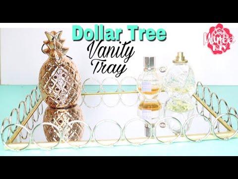 Dollar Tree DIY Mirror Vanity Tray | Perfume Tray