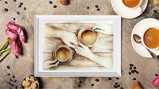 Как нарисовать картину кофейными красками?
