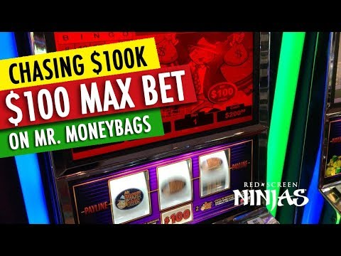 VGT SLOTS - $100,000 MR. MONEY BAGS FOR - $100 MAX BET SUPER HIGH LIMITS POOL HANDPAY JACKPOT!!!