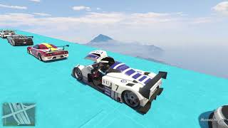 GTA V New Double Mega Ramps With Spiderman IronMan And Hulk By Supercars