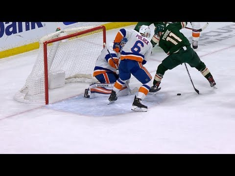 Zach Parise Goes Between The Legs To Tally On The Power Play
