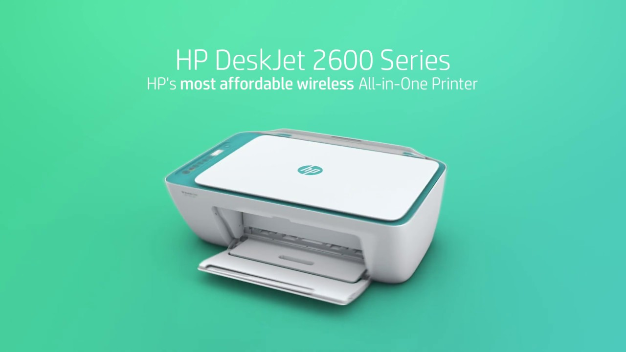 0fc427cedb86 HP Deskjet 2600 Series - YouTube