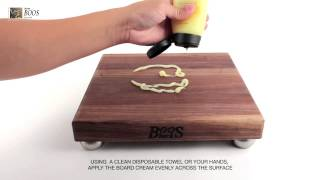 How To Oil Your John Boos Cutting Board