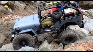rc Willys Jeep 8 - rock crawling - backyard scale off road 4x4 truck trail