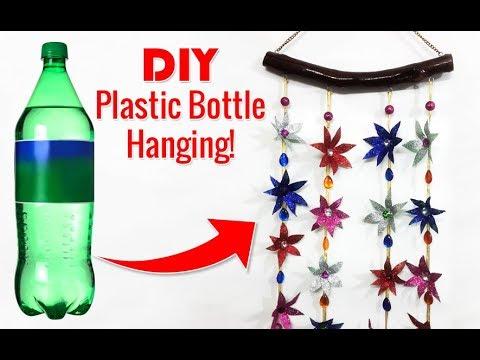 Waste Plastic Bottle ���े ���नायें ���ुन्दर Wall Hanging How