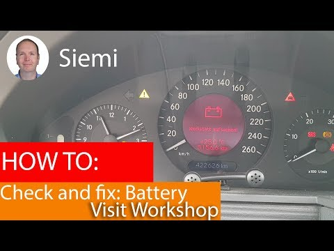 Battery Visit Workshop! How To Check And Fix This Error On A Mercedes W211