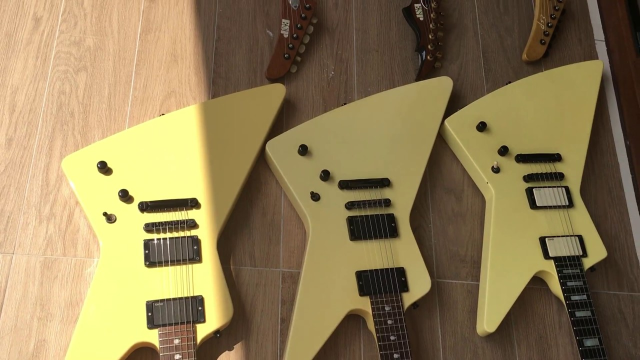 my genuine esp explorer metallica james hetfield custom guitar collection youtube. Black Bedroom Furniture Sets. Home Design Ideas