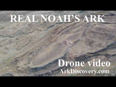 Drone flying over real Noah's ark Turkey, update 2, ArkDiscovery.com