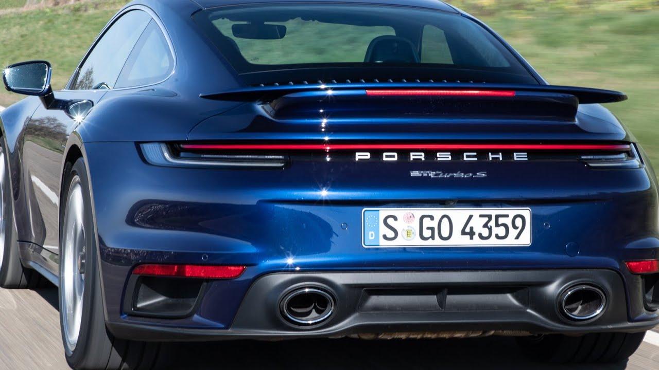 Gentian Blue Porsche 911 Turbo S 992 Generation Youtube