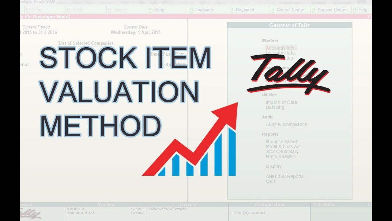 How To Change Default Stock Item Valuation Method In Tally   Inventory  Valuation