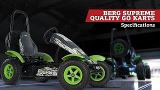 BERG Supreme Quality pedal go-kart | specifications