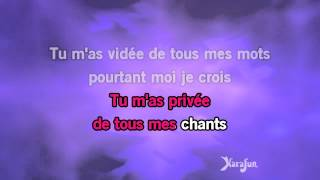 Karaoké Je suis malade (Live 98) - Lara Fabian *