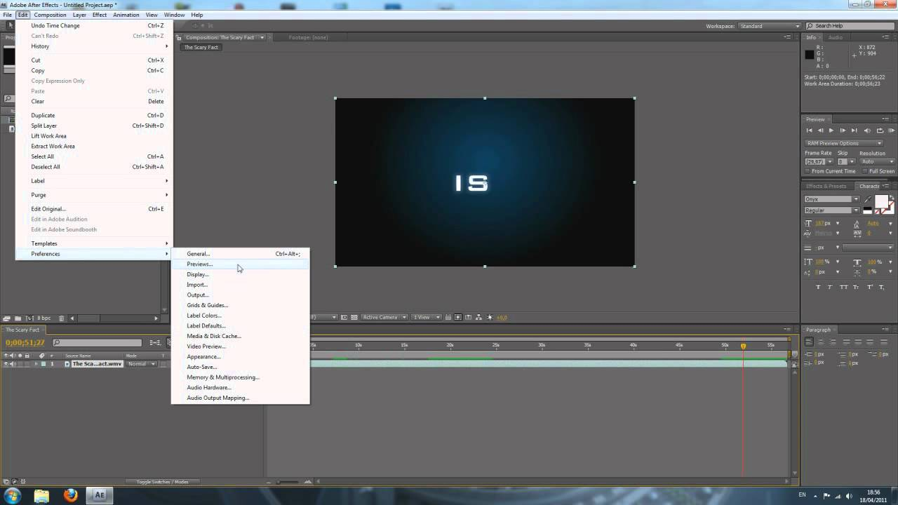 Tutorial text effects: scale animation in adobe after effects.