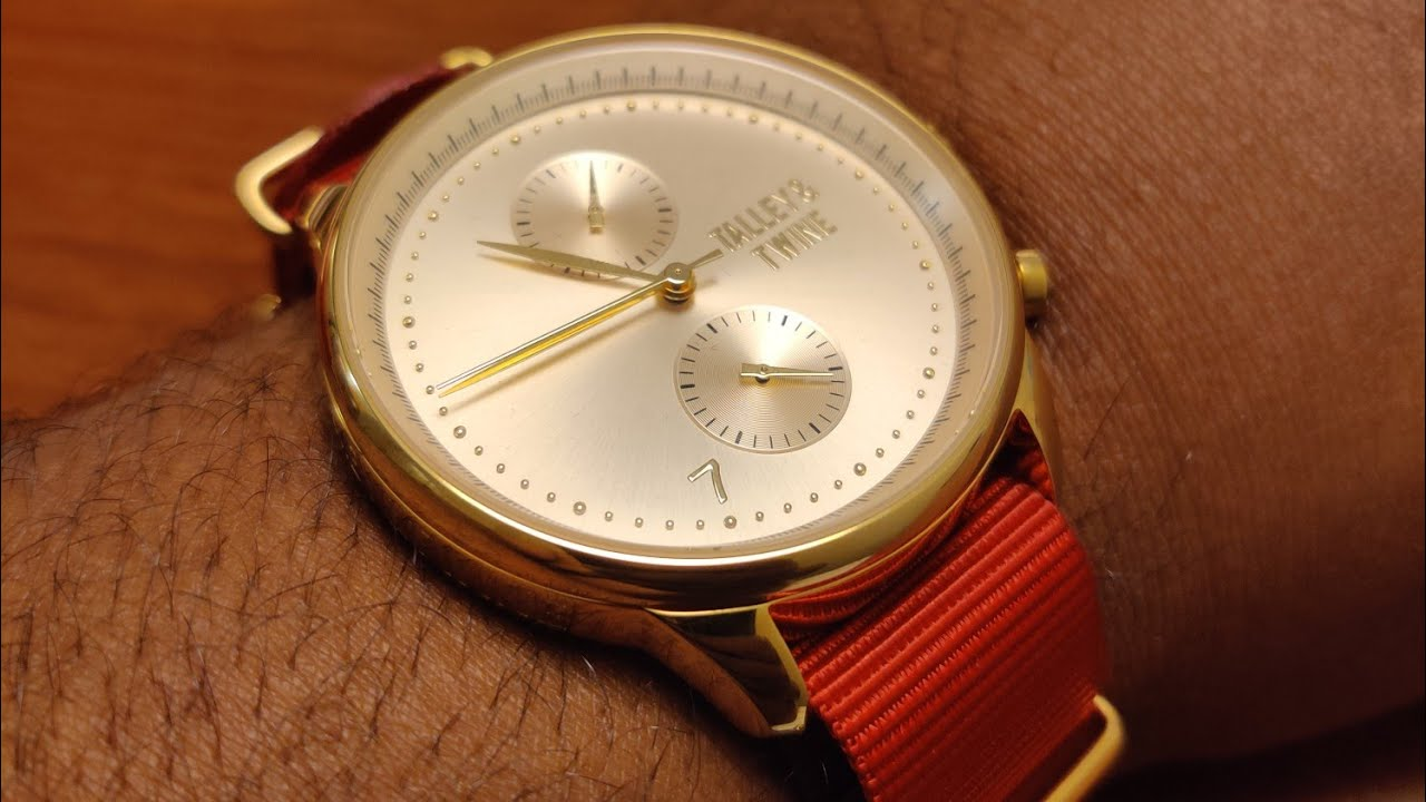 Unboxing Talley & Twine Gold Face Red Canvas Watch