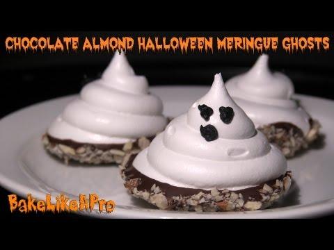Chocolate Almond Halloween Meringue Ghosts Recipe