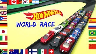 Hot Wheels fat track world battle 22 countries tournament race