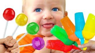 Helados de Frutas y Canción de Color de la familia del dedo | Canciones Infantiles con Katya y Dima