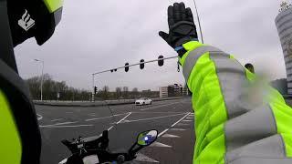 Spoedbegeleiding vanuit Zoetermeer naar het MMT bij tankstation Knorrestein