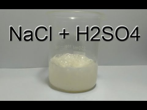 NaCl + H2SO4 in HD