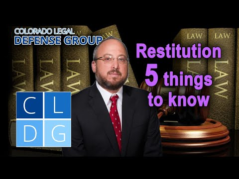Restitution in Colorado: 5 things to know