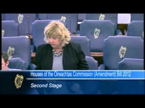 Senator Mary Moran speaking on the Commission Amendment Bill 2012