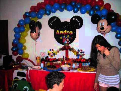 Decoracion de mikey mouse youtube - Decoracion para fiestas infantiles mickey mouse ...