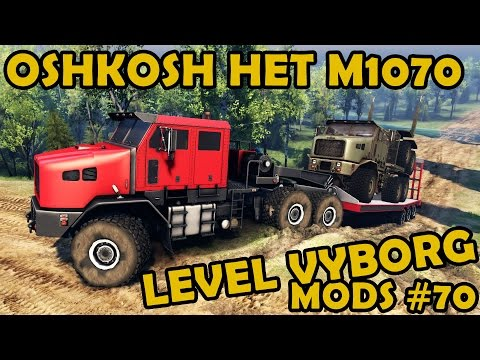 Oshkosh HET M1070 at Vyborg map - Mod Review #70 (Spin Tires)