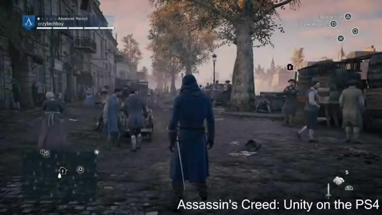 Assassin S Creed Unity Vs Black Flag Ps4 Comparison Youtube