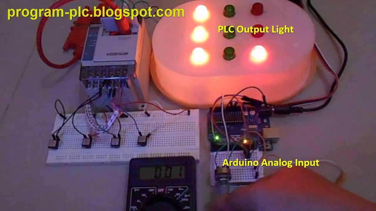 Mitsubishi PLC FX Series Communication with Arduino UNO Microcontroller
