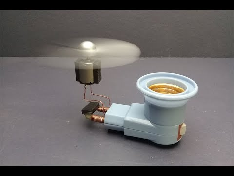 Science projects free energy electricity using magnets generator with fan toys work 100% / At home