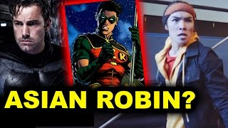 Ryan potter as robin aka tim drake reaction - ben affleck batman solo movie