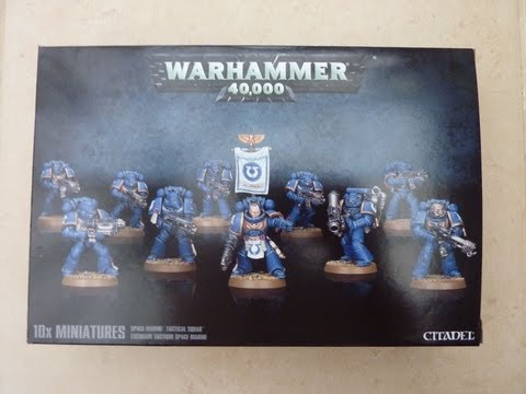 Space Marine Tactical Squad unboxing and review (WH40K)