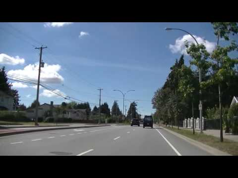 Surrey British Columbia - Suburb of Vancouver Canada - Driving on 96th Avenue
