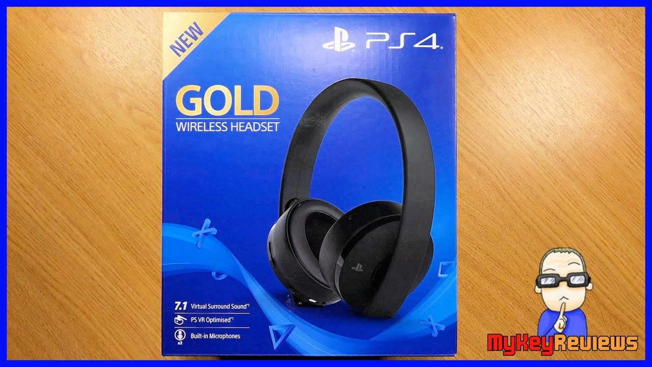 New Gold Wireless Headset Ps4 Ps4 Pro 2018 Model Unboxing Set Up Review Mykeyreviews Youtube