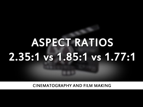 Aspect Ratios 2.35:1 vs 1.85:1 vs 1.77:1 (16:9)
