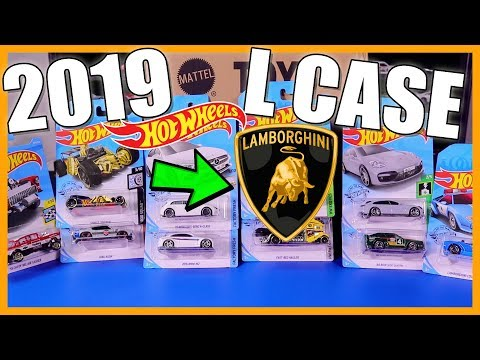 Unboxing Hot Wheels 2019 L Case 72 Car Assortment! *Lamborghini Centenario Roadster*