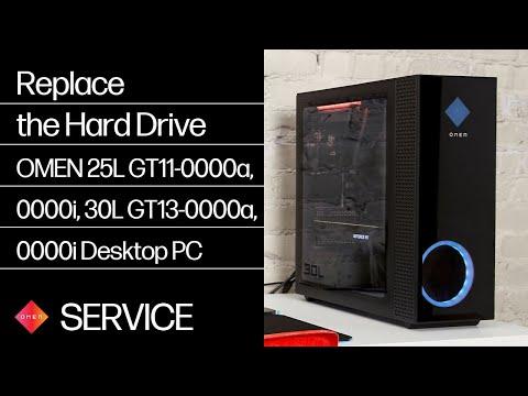 Replace the Hard Drive | OMEN 25L GT11-0000a, GT11-0000i, 30L GT13-0000a, GT13-0000i | HP