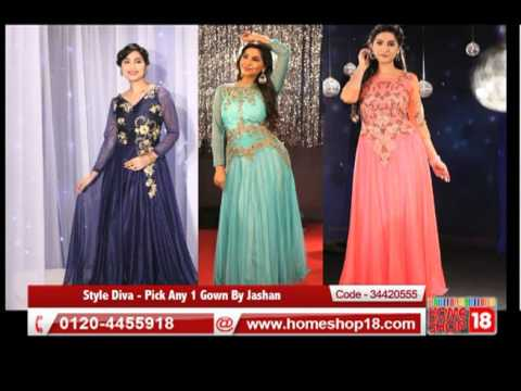 0c9818640b Homeshop18.com - Style Diva - Pick Any 1 Gown By Jashan - YouTube